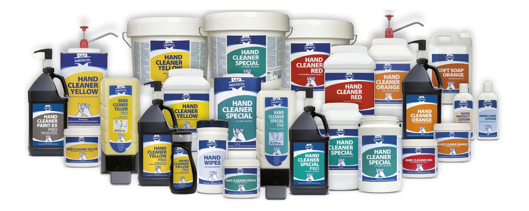 AMERICOL - péče o ruce - portfólio produktů